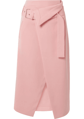 3.1 Phillip Lim - Belted Asymmetric Twill Wrap Skirt - Pink