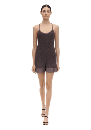 Lurex Viscose Knit Romper