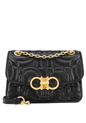 Gancini quilted leather shoulder bag