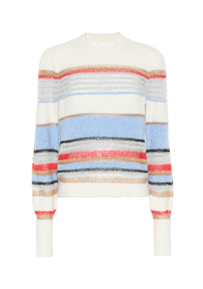 Meredith striped cotton-blend sweater
