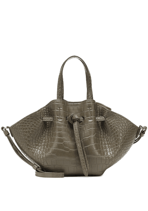 Mini Lynne croc-effect tote