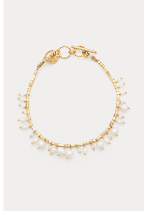 Linon silver gilt and freshwater pearl bracelet