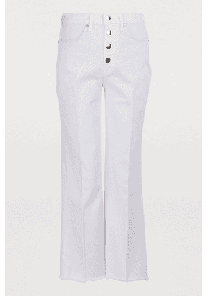 Justine cropped jeans with button fly