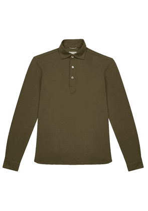 Green Cotton Piqu JFK Polo