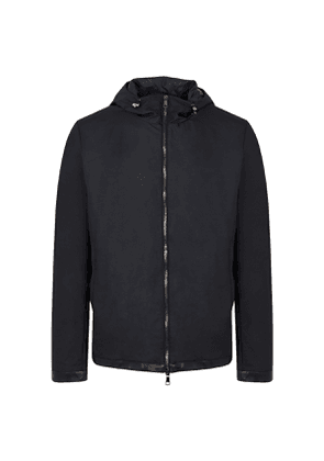 Navy Techno-Lambswool Variste Jacket