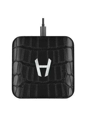 Black Alligator and Stainless Steel Charging Pad