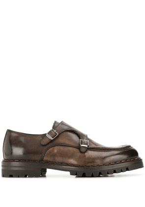 Eleventy buckled oxford shoes - Brown