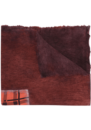 Avant Toi contrast panel shawl - Red