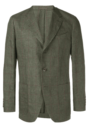 Caruso linen formal blazer - Green