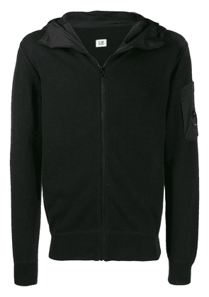 CP Company knitted hooded jacket - Black