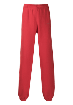 Off-White logo jogging trousers - Red