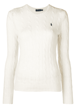 Polo Ralph Lauren logo patch sweater - White