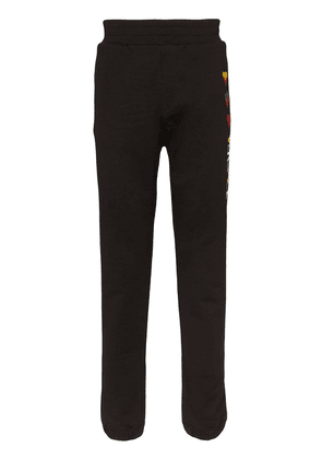 Versace heart-embroidered track trousers - Black
