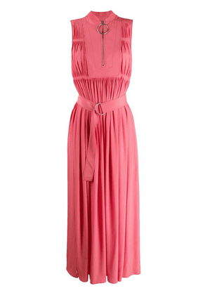 Cédric Charlier sleeveless belted maxi dress - Pink