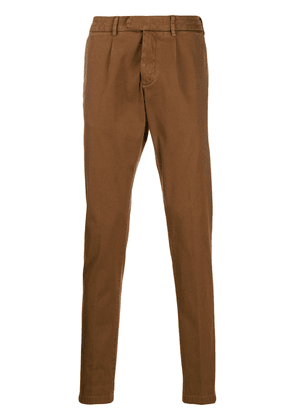 Eleventy classic slim-fit chinoswaistband - Brown