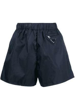 Prada puff logo shorts - Blue