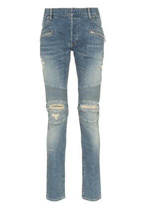 Balmain slim-fit ripped jeans - Blue