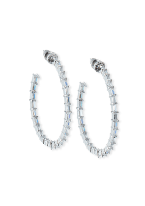 Crystal-Baguette Hoop Earrings