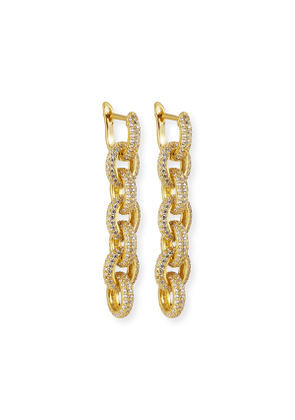 Forever Pave Link-Drop Earrings