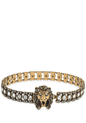 Crystal Lion Head Choker