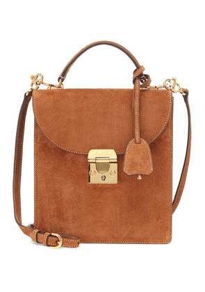 Uptown suede shoulder bag