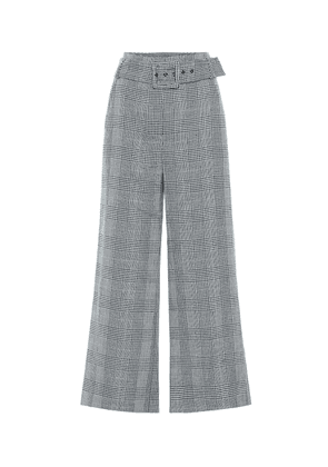 Dexter checked linen and cotton pants