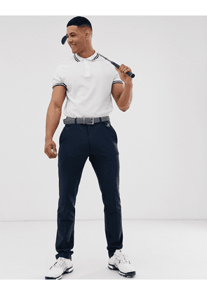 Adidas Golf Ultimate 365 3-stripe tapered trousers in navy