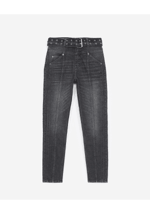 The Kooples - faded black jeans with visible button - bla