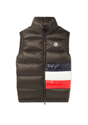 Moncler - Sovex Slim-fit Colour-block Quilted Shell Down Gilet - Green