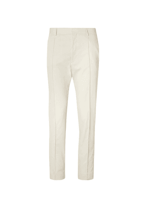 Hugo Boss - Cream Paco Cropped Slim-fit Twill Trousers - Sand