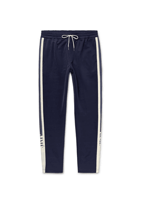 Aimé Leon Dore - Tapered Webbing-trimmed Tech-jersey Track Pants - Navy