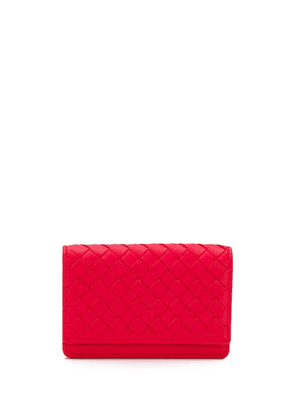 Bottega Veneta woven card holder - Red