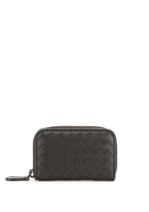 Bottega Veneta Intrecciato zip purse - Brown