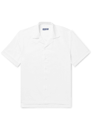 Frescobol Carioca - Camp-collar Cotton-seersucker Shirt - White