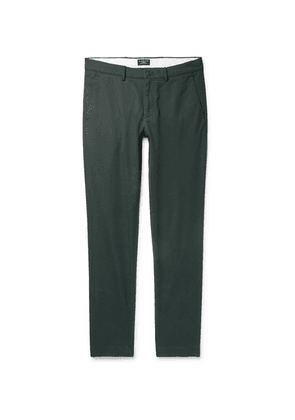 Club Monaco - Connor Slim-fit Cotton-blend Twill Chinos - Dark green