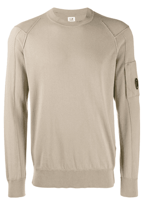 CP Company goggle lens patch sweater - Neutrals