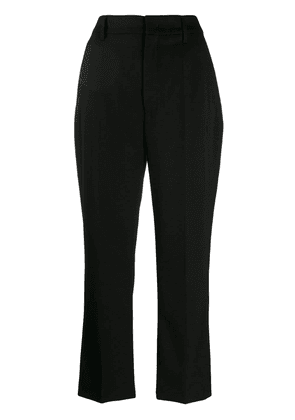 Prada flared cropped trousers - Black