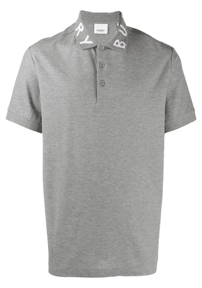 Burberry logo intarsia polo shirt - Grey