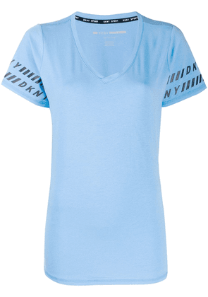 DKNY logo trim T-shirt - Blue