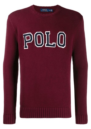 Polo Ralph Lauren ribbed knit logo sweatshirt - Red