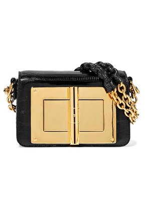 TOM FORD - Natalia Small Lizard Shoulder Bag - Black