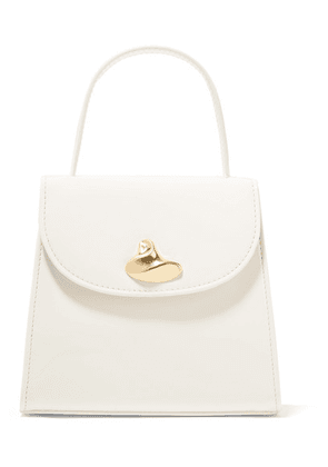 Little Liffner - Little Lady Patent-leather Tote - White