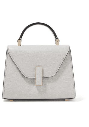 Valextra - Iside Micro Textured-leather Shoulder Bag - Stone