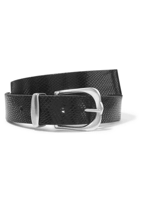 Isabel Marant - Kidatt Snake-effect Leather Belt - Black
