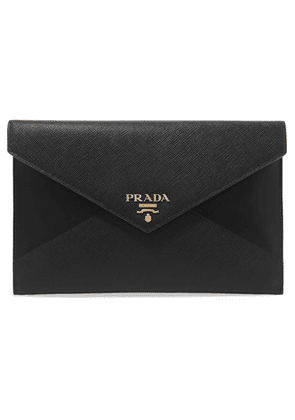 Prada - Paneled Leather Pouch - Black
