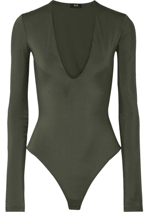 Alix - Irving Stretch-jersey Thong Bodysuit - Army green