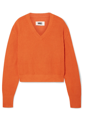 MM6 Maison Margiela - Ribbed-knit Sweater - Orange