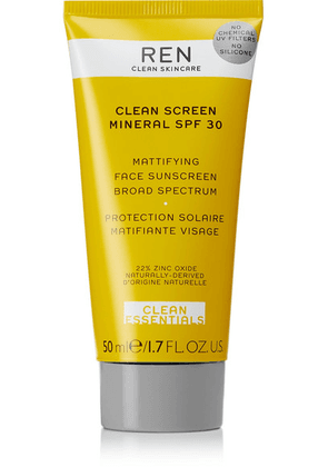 REN Clean Skincare - Clean Screen Mineral Mattifying Face Sunscreen Spf30, 50ml - one size