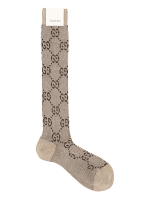 Long Gg Jacquard Cotton Blend Socks
