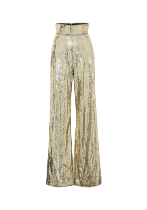 Sequinned flared pants